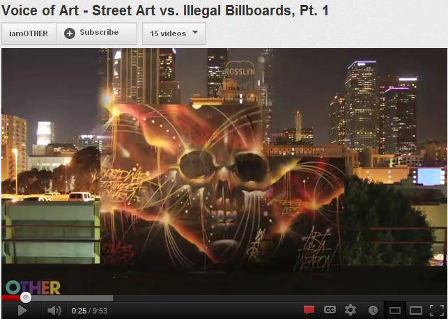 Voice of Art - Street Art vs. Illegal Billboards, Pt. 1